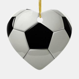 Soccer football ceramic ornament