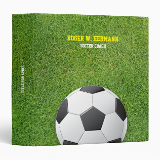 Soccer Football Coach 3 Ring Binder