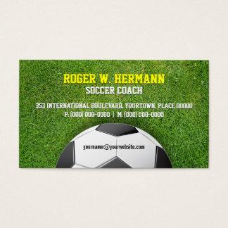 Soccer Football Coach Business Card