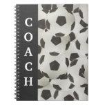 Soccer/Football Coach Playbook Spiral Note Books