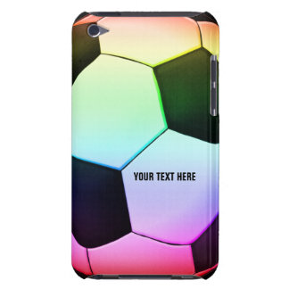 Soccer | Football colorful girly gift Barely There iPod Covers
