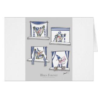 soccer football dog blues forever card