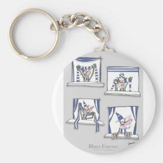 soccer football dog blues forever keychain