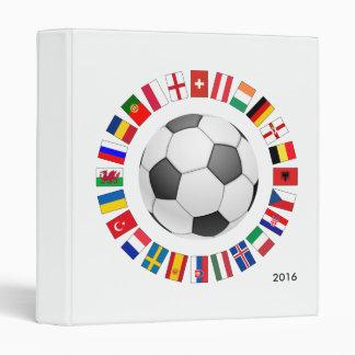 Soccer Football European Championship 2016 3 Ring Binder