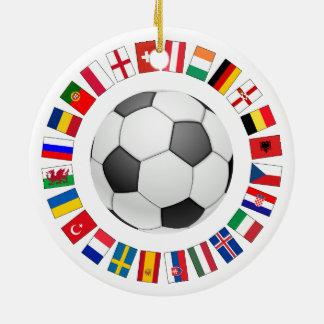 Soccer Football European Championship 2016 Ceramic Ornament