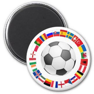 Soccer Football European Championship 2016 Magnet