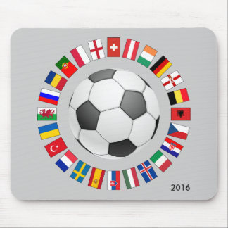 Soccer Football European Championship 2016 Mouse Pad