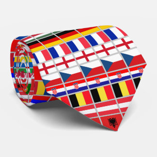 Soccer Football European Championship 2016 Neck Tie