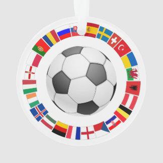 Soccer Football European Championship 2016 Ornament