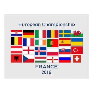Soccer Football European Championship 2016 Postcard