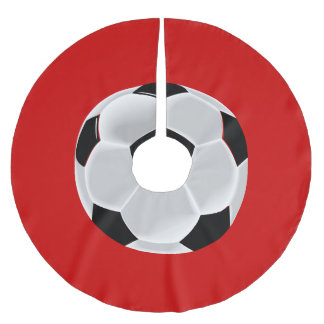 Soccer Football Futbol Ball Brushed Polyester Tree Skirt