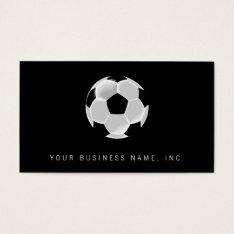 Soccer Football Futbol Ball Business Card at Zazzle