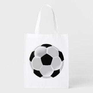 Soccer Football Futbol Ball Reusable Grocery Bag