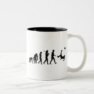 Soccer Football futbol gifts for futebol stars Two-Tone Coffee Mug