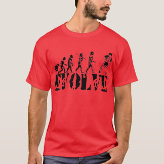 Soccer Football Futbol Player Sport Evolution Art T-Shirt