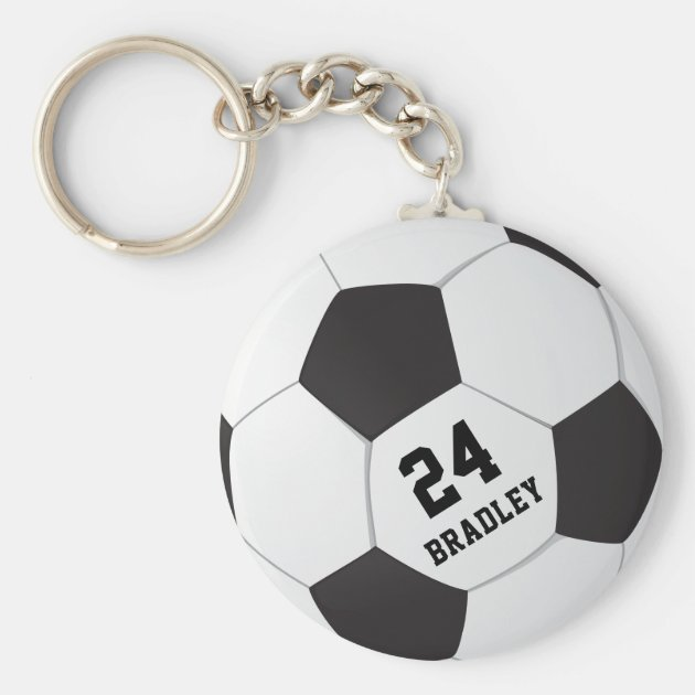 CUSTOM NAME AND NUMBER FOOTBALL SOCCER SHIRT EMBROIDERED KEYCHAIN