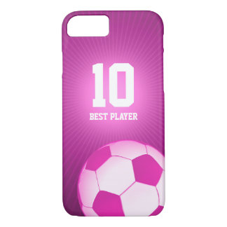 Soccer | Football Girly Best Player No. iPhone 8/7 Case