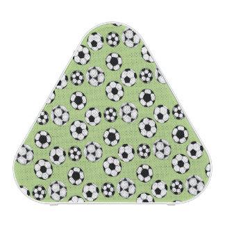 Soccer football green white pattern speaker