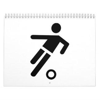 Soccer football logo calendar