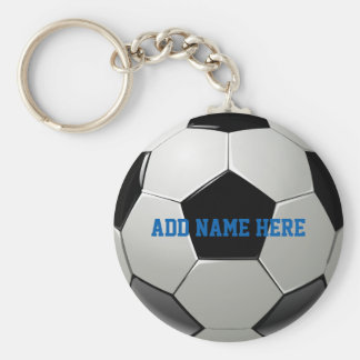 Soccer Football Name Customized Basic Round Button Keychain