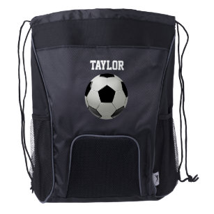 8e0023c4d Soccer Football Name Personalize Drawstring Backpack