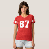 Soccer Football Number Customized T-shirt