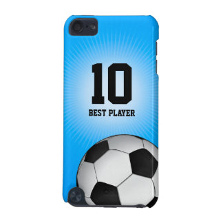 Soccer | Football on blue background iPod Touch 5G Cover