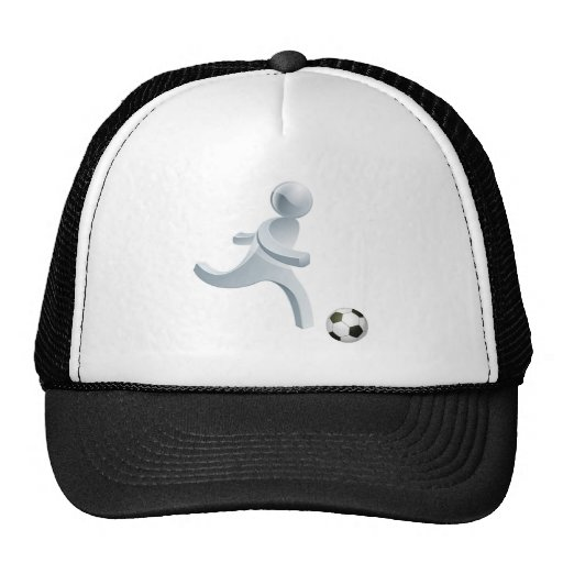 Soccer football person mascot hat