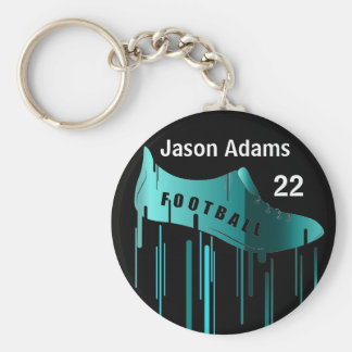 Soccer/Football personalized sports design Basic Round Button Keychain