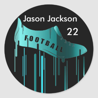 Soccer/Football personalized sports design Classic Round Sticker