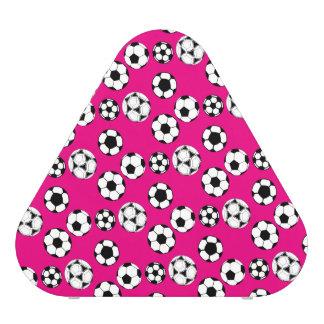 Soccer football pink white pattern bluetooth speaker