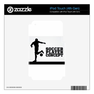 Soccer Football Player Concept Silhouette Skins For iPod Touch 4G