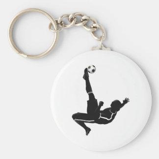 Soccer football player illustration keychain