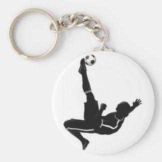 Soccer football player illustration key chain