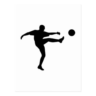 Soccer Football Player Postcard