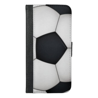 Soccer football print iPhone 6/6s plus wallet case