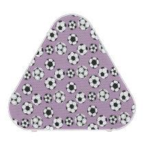 Soccer football purple white pattern speaker