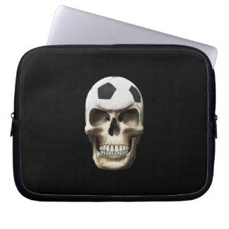 Soccer (Football) Skull Laptop Sleeves