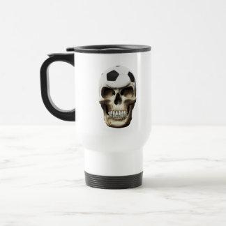 Soccer (Football) Skull Travel Mug