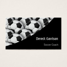 Soccer | Football Sports Coach Business Card at Zazzle