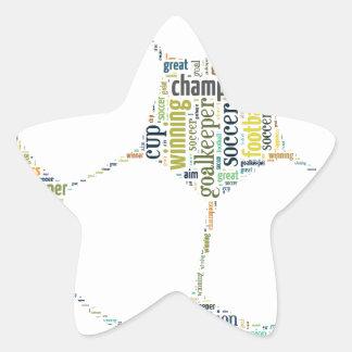 Soccer Football  Word Tag Cloud Star Sticker