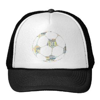 Soccer Football  Word Tag Cloud Trucker Hat