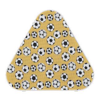 Soccer football yellow white pattern speaker