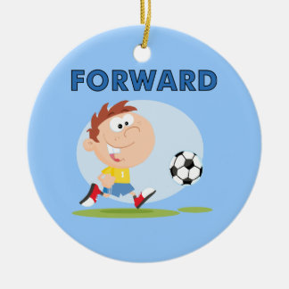 Soccer Forward T-shirts and Gifts Double-Sided Ceramic Round Christmas Ornament