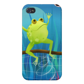Soccer Frog at night - iphone case Case For iPhone 4