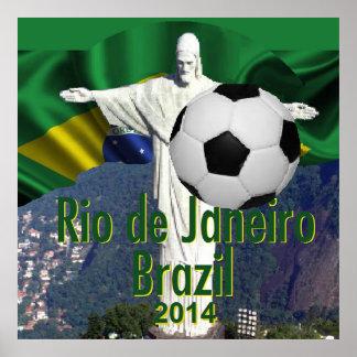 Soccer futbal Rio de Janeiro Brazil POSTER Print Poster