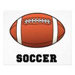 "Soccer Futball Football 4.5"" X 5.6"" Flyer"