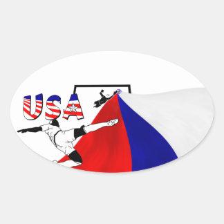 Soccer (Futbol) Oval Sticker