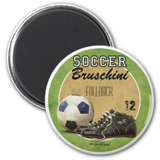 Soccer Game 2 Inch Round Magnet