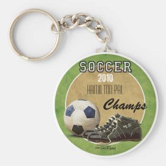 Soccer Game Basic Round Button Keychain